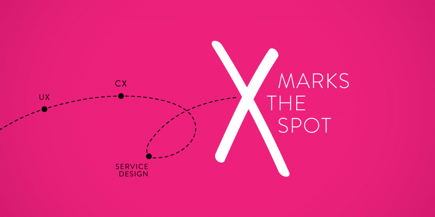 X Marks the Spot in Experience Design Thinking: UX vs CX vs
